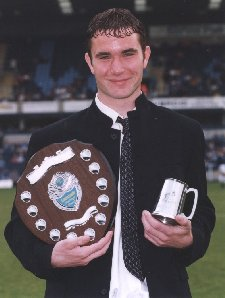 Mark Osborn - Youth Team player of the Year 1998/99 - Football League debut and clean sheet against Cambridge - picture with kind permission of Paul Dennis - see below