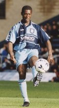 Steve Brown went close for Wycombe - picture Paul Dennis